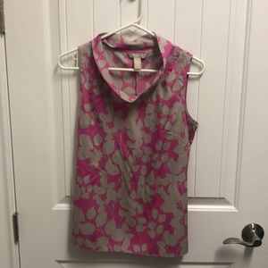 Banana Republic Gray and pink Camisole in Small